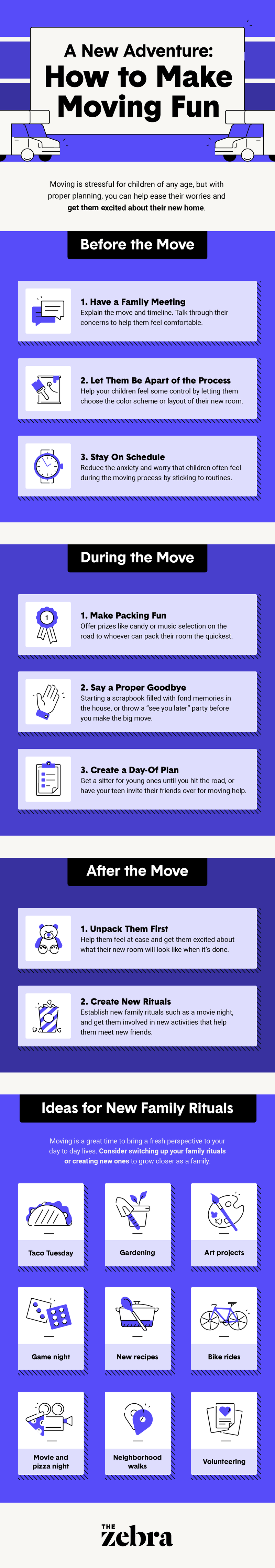 moving and kids infographic