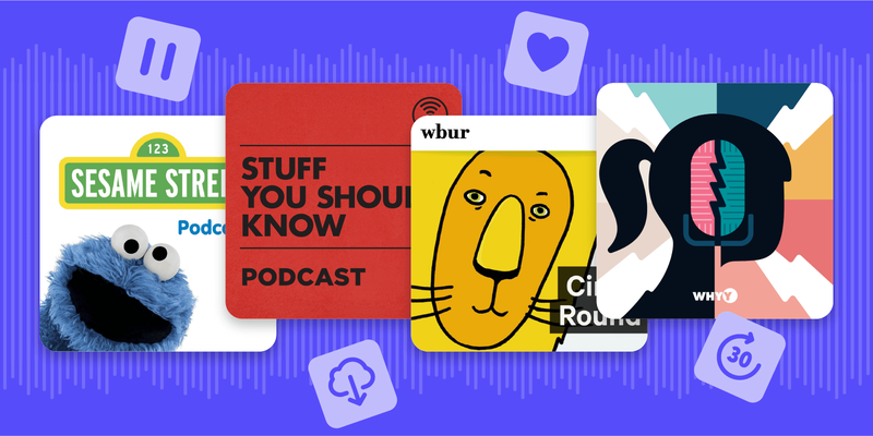 family-friendly podcasts graphic