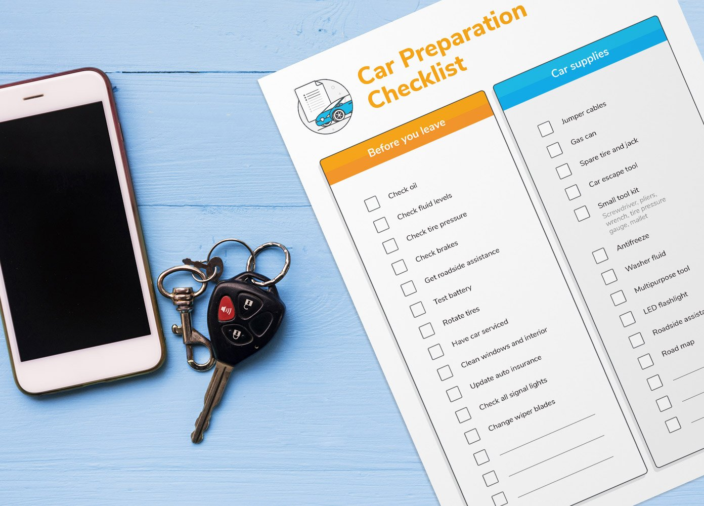 car prep checklist