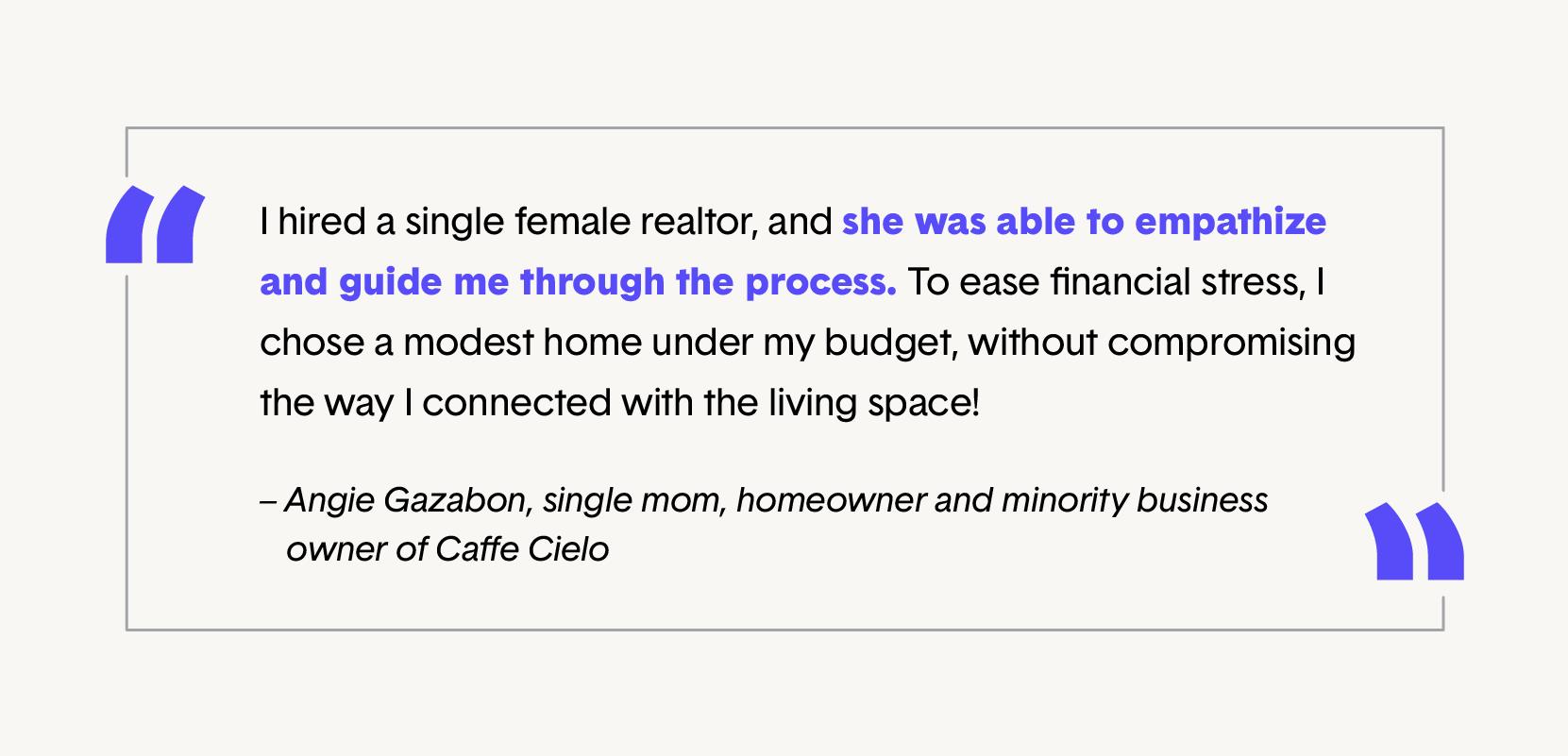 single female homeownership quote